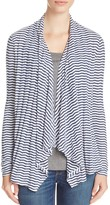 Three Dots Draped Stripe Cardigan - 100% Exclusive