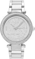 Michael Kors Silver Crystal-Accent Parker Bracelet Watch