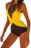 Heybaby Women's Sexy Lace Halter One Piece Swimsuit Bikini Swimwear