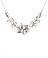 George Jewelled Leaf Necklace
