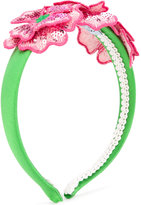 Mi Mi Sol - floral embellished head band - kids - Polyester/Silk - One Size
