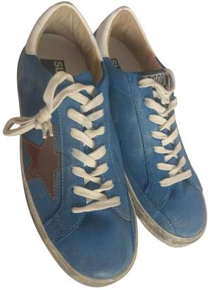 Golden Goose Superstar Turquoise Suede Trainers