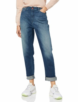 Armani Exchange Women's Relaxed Fit Boyfriend Roll Up J06 Jeans