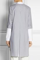 ADAM by Adam Lippes Striped cotton-poplin tunic