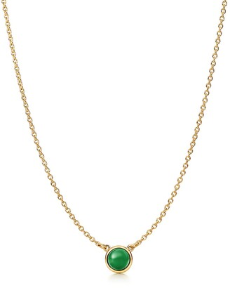 Tiffany & Co. Elsa Peretti Cabochon pendant in 18k gold with green jade