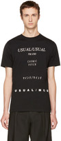 McQ by Alexander McQueen Black 'Usual/Usual' T-Shirt