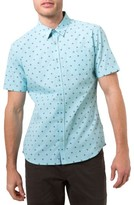 7 Diamonds Men's Palms Print Woven Shirt