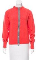 Diane von Furstenberg Zip-Up Long Sleeve Cardigan