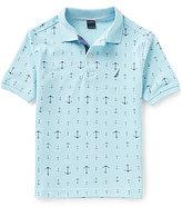 Nautica Big-Boys 8-20 Nautical Anchor Printed Short-Sleeve Polo Shirt