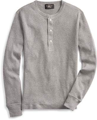 Ralph Lauren Waffle-Knit Henley Shirt