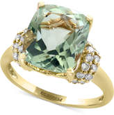 Effy Green Amethyst (5-1/4 ct. t.w.) and Diamond (3/8 ct. t.w.) Ring in 14k Gold