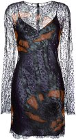 Nina Ricci sequin embroidered lace dress - women - Polyamide - 34
