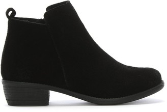 Df By Daniel Mayland Black Suede Stacked Heel Ankle Boots