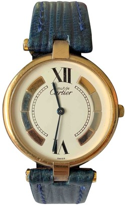 Cartier Must Trinity White Silver Gilt Watches