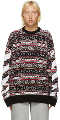 Off-White Red Fair Isle Agreement Sweater