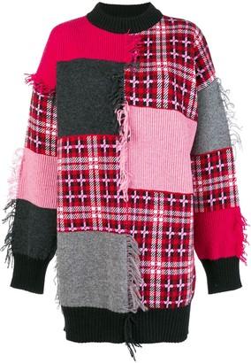 MSGM Patch-Work Plaid Sweater