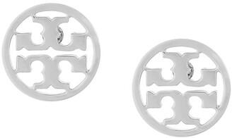 Tory Burch Logo Circle Earrings