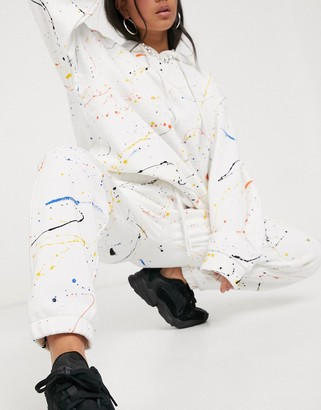 Jaded London relaxed cargo joggers in paint splatter co-ord