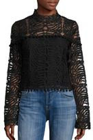 Tularosa Holly Lace Mockneck Top