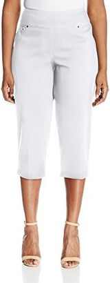 Ruby Rd. Women's Pull-on Stretch Knitted Twill Cropped Capri