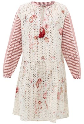 D'Ascoli Napeague Floral-print Cotton Dress - Red Print