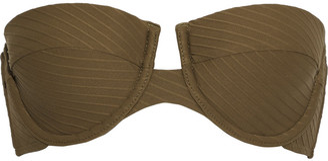 Zimmermann Ribbed Bandeau Bikini Top