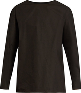 Lemaire Long-sleeved cotton-poplin T-shirt