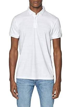 Esprit Men's 039EE2K001 Polo Shirt, (White 100), L