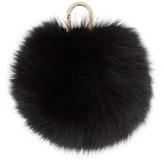 Yves Salomon Black Fur Pom Pom Keychain