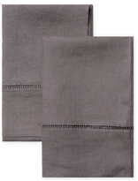 Melange Home Belgian Linen Ladder Stitch Pillowcases (Set of 2)