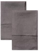 Melange Home Ladder Stitch Belgian Linen Pillowcases (Set of 2)