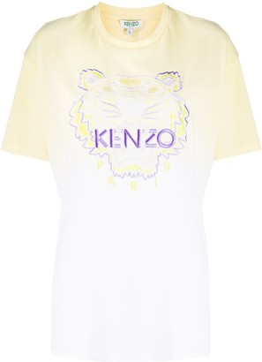 Kenzo Tiger gradient-effect T-shirt
