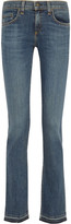 Rag & Bone Lottie Low-rise Frayed Bootcut Jeans
