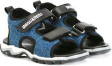 DSQUARED2 denim touch strap sandals - kids - Cotton/Leather/rubber - 20