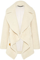 Burberry Shearling And Cable-knit Coat - Ivory