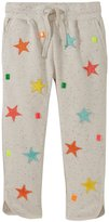 Stella McCartney Emilie Star Patch Pants (Toddler/Kid) - Light gray-5