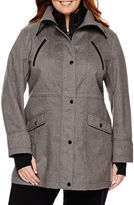 Liz Claiborne Snap-Collar Softshell Jacket-Plus