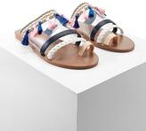 Forever 21 Tasseled Toe-Loop Clear Sandals