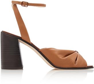 Jimmy Choo Jasie Gathered Leather Sandals