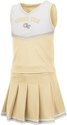 Colosseum Girls Youth Gold Georgia Tech Yellow Jackets Pinky Cheer Dress