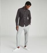 Reiss Knight - Dark Wash Denim Shirt in Grey