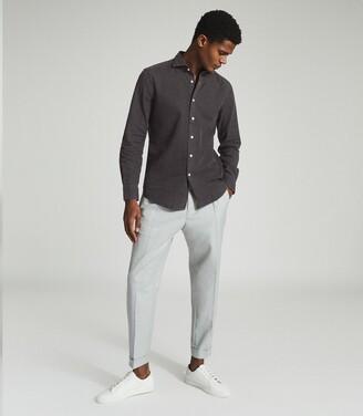 Reiss Knight - Dark Wash Denim Shirt in Grey