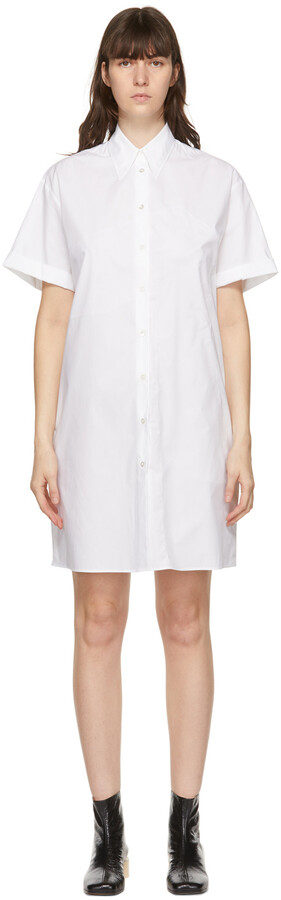MM6 MAISON MARGIELA White Poplin Polo Dress