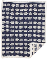 Living Textiles 30'' x 40'' Navy Lamb Muslin Jacquard Receiving Blanket