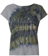 Raquel Allegra tie-dye detail T-shirt - women - Cotton/Polyester - 2