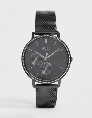 BOSS 1502521 Infinity mesh watch-Black