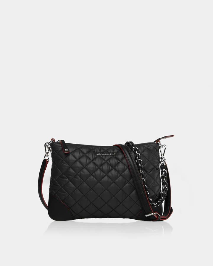 2b53107a95db Black Handbag With Silver Hardware - ShopStyle