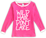 Urban Smalls Fuchsia 'Wild Hair Don't Care' Boatneck Top - Toddler & Girls