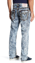 True Religion Straight Leg Flap Orange Big T Stitch Jeans