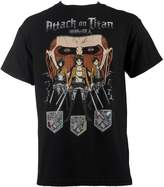 Ripple Junction Attack On Titan Men's Shadow Shield T-Shirt 2XL